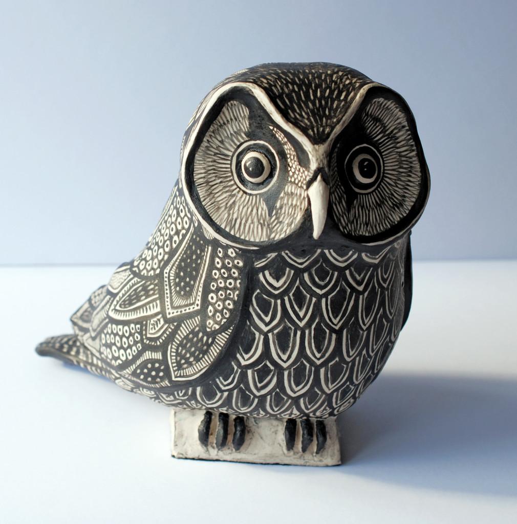 Tengmalm's Owl – 210 x 220 x 140 mm